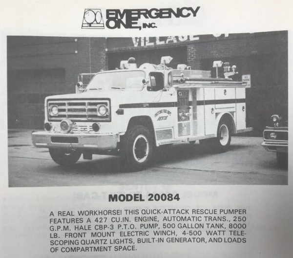 vintage E-ONE fire truck