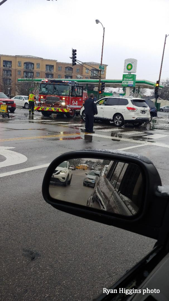 car crash in an intersection