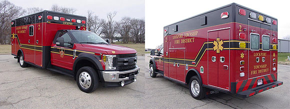 new ambulance for the Lockport Township FPD