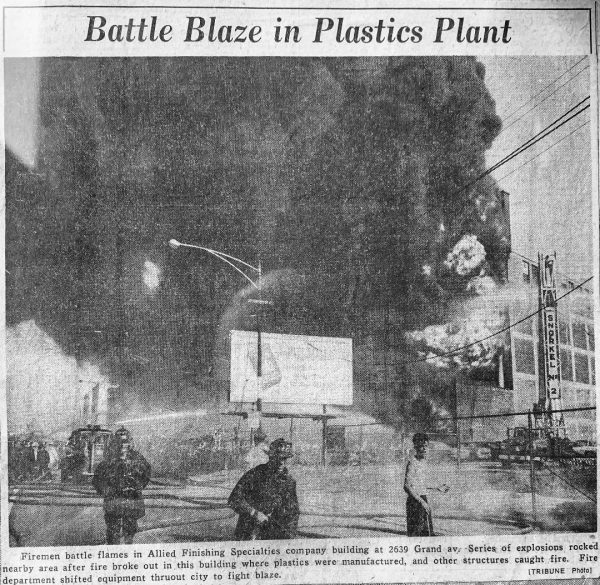 historic fire in Chicago