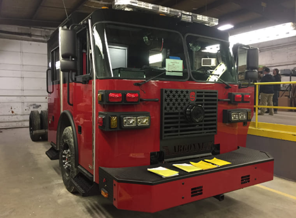 new fire engine for the Argonne National Labs FD