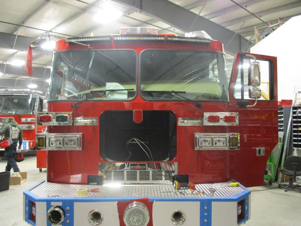 new Sutphen fire engine cab and chassis
