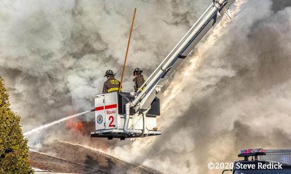 Firefighters in Snorkel basket
