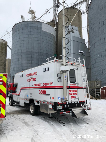 industrial accident at the Minooka Grain, Lumber & Supply Co