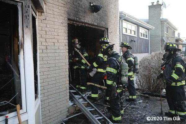 house under renovation destroyed by fire
