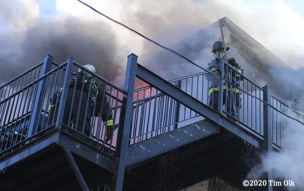 Chicago Firefighters battle apartment fire