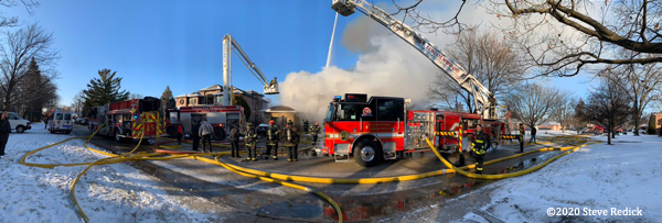 panoramic photo of fire scene