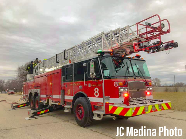 E-ONE CR137 ladder truck in Chicago
