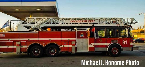 Chicago Fire tv show fire truck