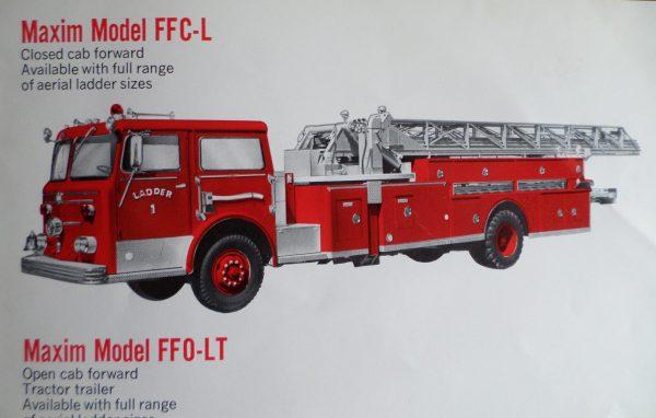 vintage Maxim fire truck brochure
