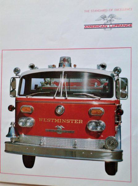 American LaFrance fire truck brochure