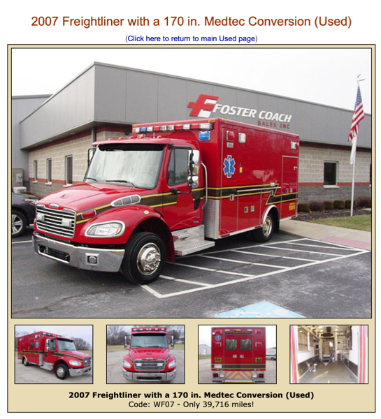 Freightliner Mette ambulance for sale