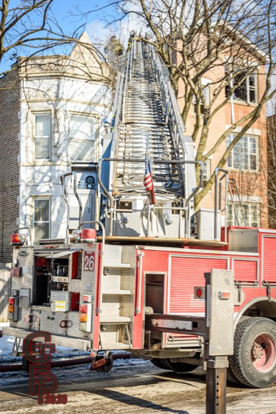 aerial ladder to the roof