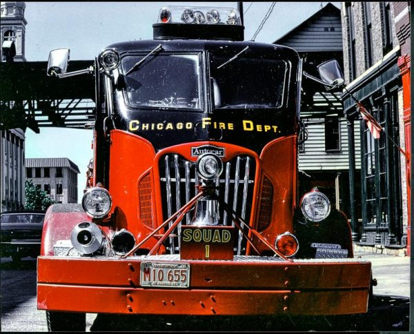 vintage Chicago fire engine