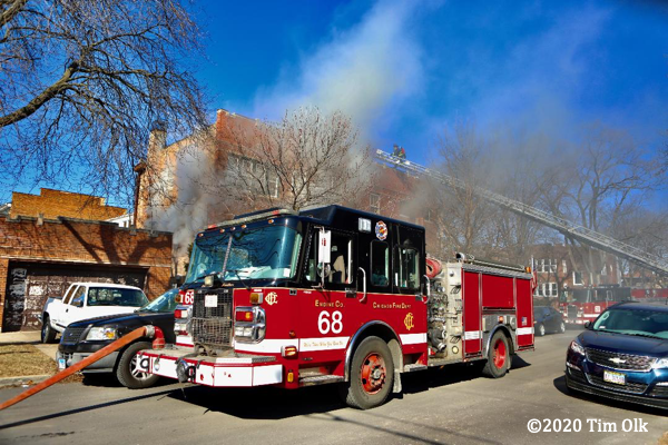 Spartan fire engine in Chicago
