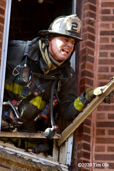Chicago Firefighter with PPE