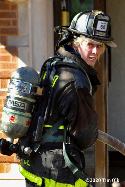 Female Firefighter in PPE