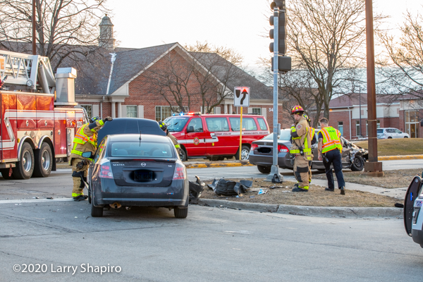 Buffalo Grove Firefighters at crash scene