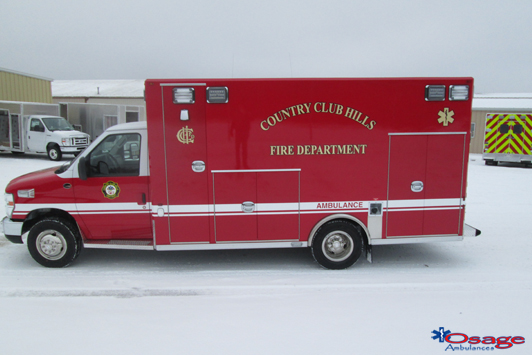 Osage Type 3 E-450 ambulance remount for the Country Club Hills FD