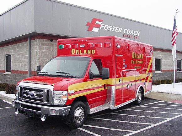 New ambulance for the Orland Fire Distric