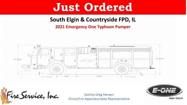 South Elgin & Countryside FPD orders E-ONE fire engine