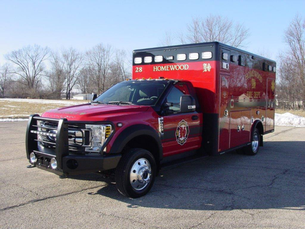 Ford F550/Horton Type I ambulance for the Homewood Fire Department