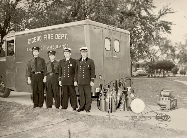 vintage photo of Cicero Firefighters