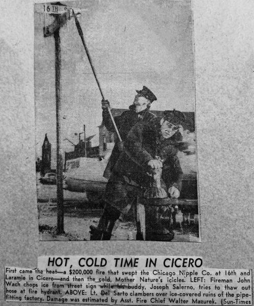 vintage Cicero FD news clipping