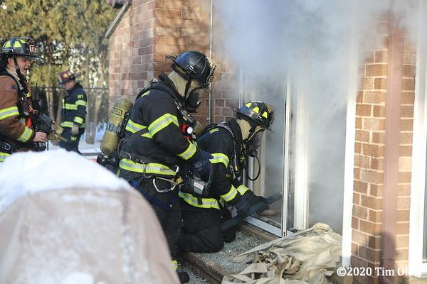 Northbrook Firefighters at fire scene