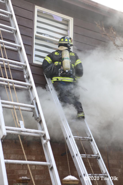 Northbrook Firefighter at work