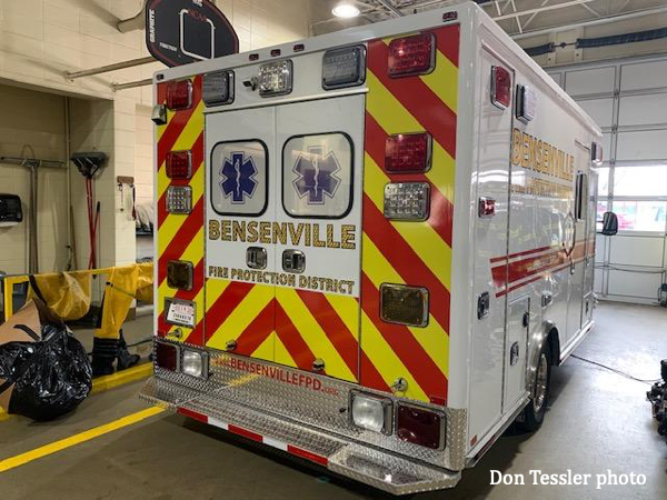 Bensenville FPD ambulance gets new chassis