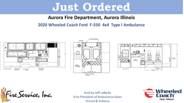 new ambulance for the Aurora FD