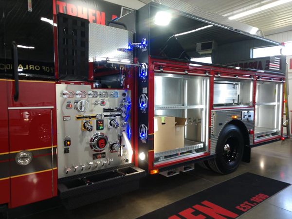 new Sutphen fire engine