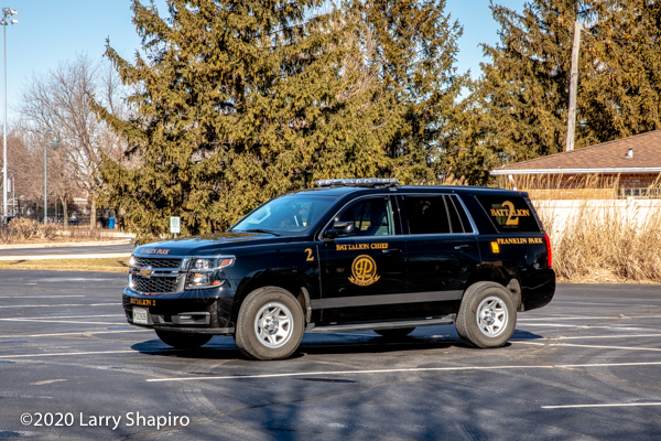 Chevy Tahoe fire car