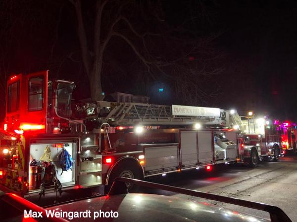 Evanston fire truck