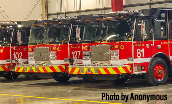 Three new fire engines for the Chicago Fire Department
