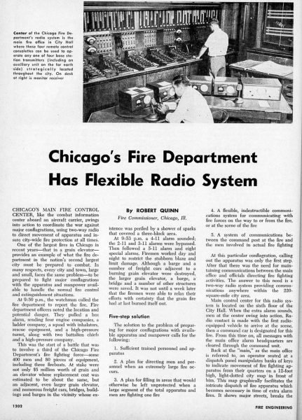 new Chicago FD radio system in 1957