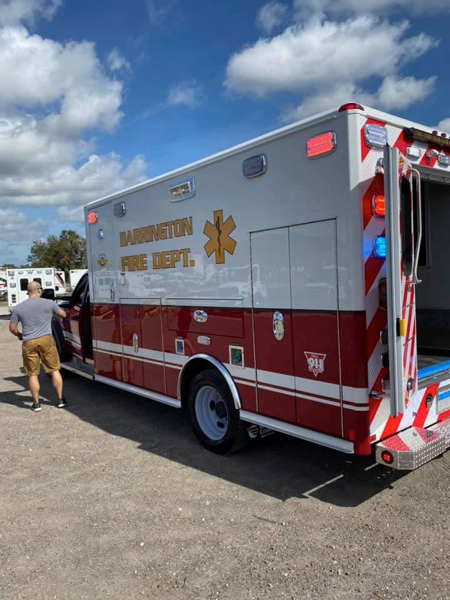 new ambulance for the Barrington FD