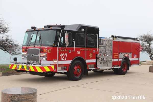 2020 E-ONE Cyclone fire engine in Chicago