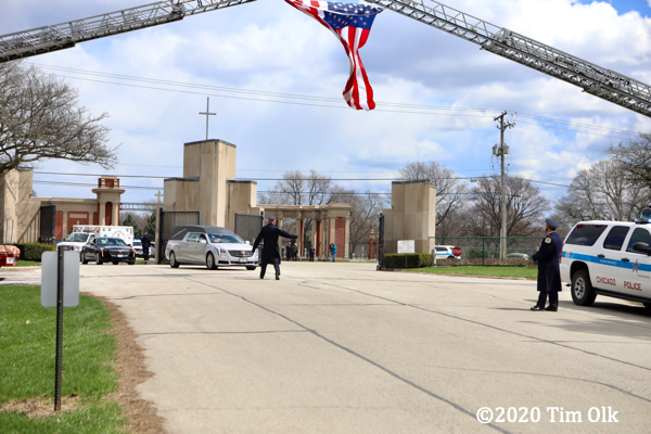 funeral procession for fallen officer