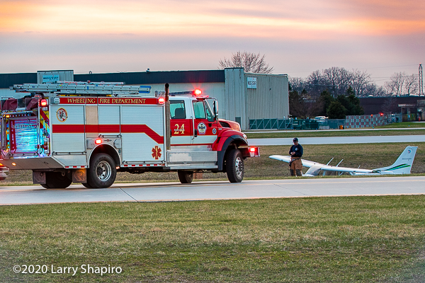Rosenbauer America IHC/Timberwolf on airport runway