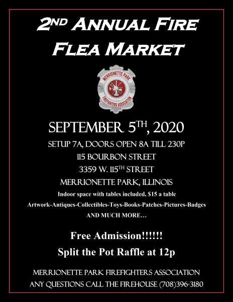 Chicago area fire flea market