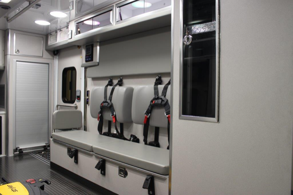 interior of new Lifeline ambulance