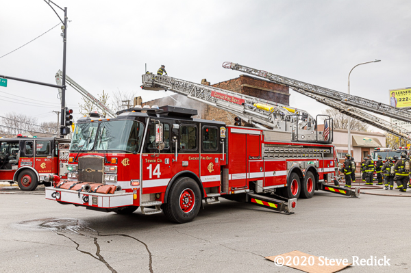 E-ONE Cyclone tower ladder
