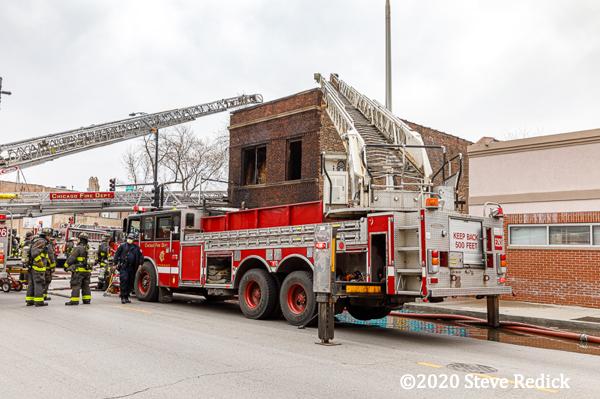 Chicago fire truck on scene