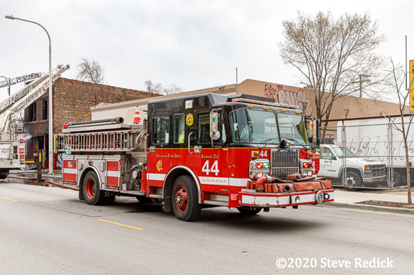 Chicago fire engine on scene
