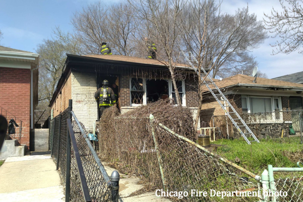 woman critically injured in Chicago house fire
