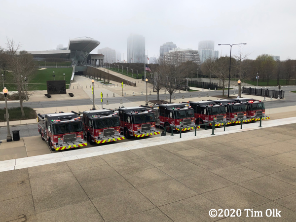 Seven new E-ONE fire engines in Chicago 2020
