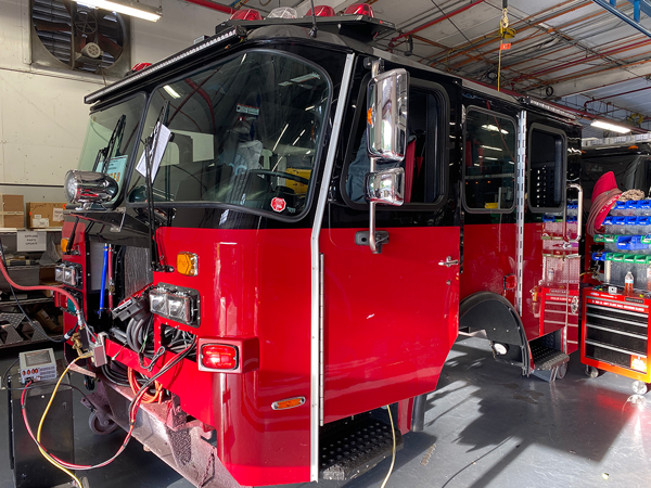 E-ONE fire engine being built so 143158