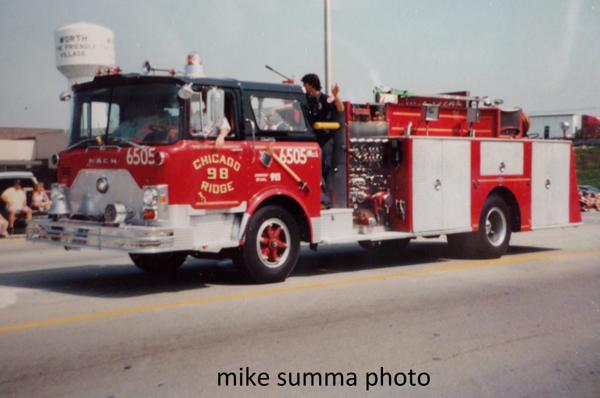 1976 Mack CF/Pirsch 1000/500 pumper